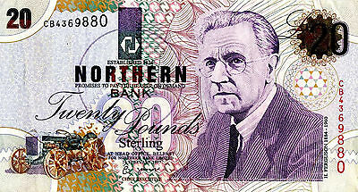 MINT 1997 £20 NORTHERN BANK NOTE (N.Ireland)