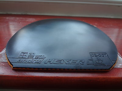 used table tennis rubber Andro HEXER POWERSPONGE  W147mm x H151mm