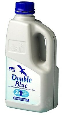 Brand New Elsan Double Concentrated Toilet Fluid - Blue, 1 Litres