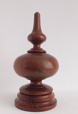 Large Antique French Turned Wood Finial 20.5cm Tall