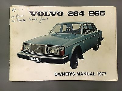 Volvo 260 Owners Handbook Instruction Manual 264 265 1977 My English