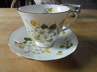 Ridgway Potteries Queen Anne Tea Cup Saucer Fine Bone China England floral 8342
