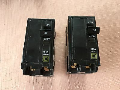 2 Circuit Breakers, 30 amp by Square D