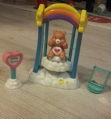 *Carebears* collectable figure & rainbow cloud swing Toy