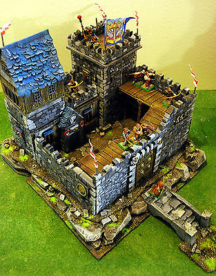 "WARHAMMER age of sigmar WAR GAME SCENERY "" KNIGHT FORT CASTLE "" PRO PAINTED"