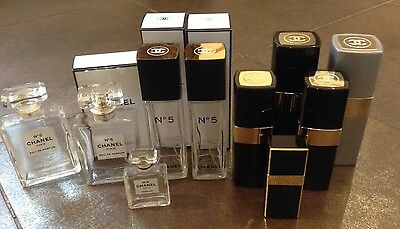 Chanel - Large Collection Of Empty Bottles And Empty Refill Containers