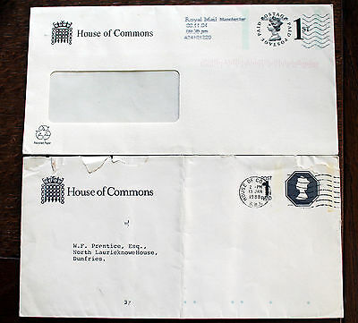 House of Commons Postal Stationery Envelopes & Cancel – (Le1)