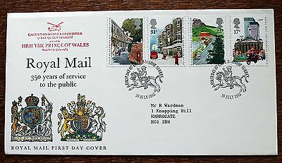 "GB FDC 1985 Royal Mail (Bagshot)  Cachet ""Carried on HRH POW Helicopter"" (Le1)"