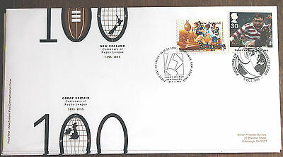 GB & New Zealand FDC of Centenary of Rugby League  – (Le1)