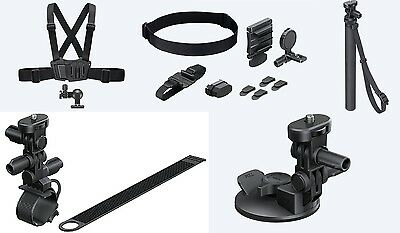 Kit Fixations Action Cam SONY Officiel pour AS50,AZ1,X1000V,FDR-X3000,AS20...