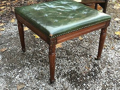 Antique French Louis 15th Provincial Style Carved Wood Ottoman foot stool