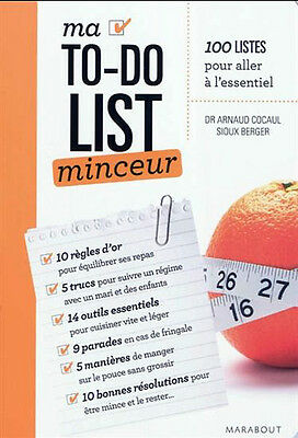 Livre Ma to-do list minceur, collection Marabout