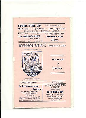 1968/69 FA Cup  2nd round  Weymouth v Swansea