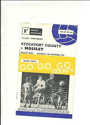 1969/70 FA Cup  1st round  Stockport v Mossley