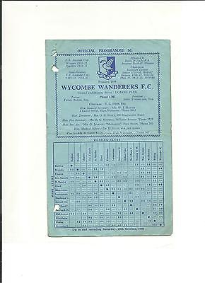 1960/61 FA Cup  1st round proper  Wycombe Wanderers v Kettering Town