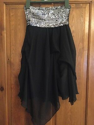 'tammy' girls sequinned elasticated band dress - 140-146cms (approx 10-11yrs)
