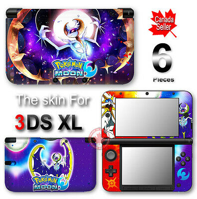 Pokemon Sun Moon Go Lunala Skin Sticker Cover Decal #3 for Original 3DS XL
