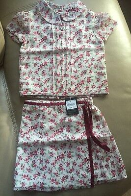 Sweet Pea (Debenhams) BNWT 2 Piece top (2-3) skirt (2) RRP £26