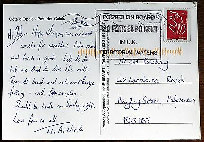 "Postcard ""Posted on Board"" P&O Ferries  Paquebot Style Cachet (Se2)"