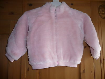 Ladybird pink faux fur jacket - 3-4 years - only worn once or twice!!