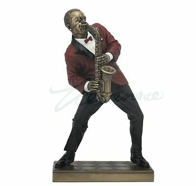 Jazz Band Collection - Alto Saxophone Player Sculpture Musician Statue Figurine