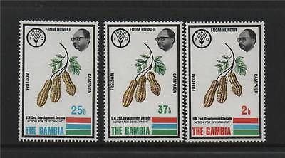 Gambia 1973 Freedom From Hunger SG 298/300 MNH