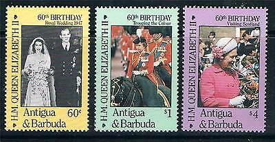 Antigua 1986 Queen's 60th Birthday SG1005/7  MNH
