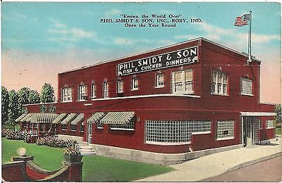 Phil Smidt & Sons Restaurant in Roby IN Postcard