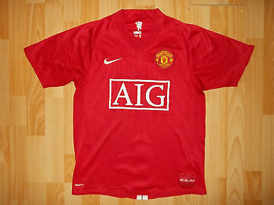 vintage Nike MANCHESTER UNITED 2007-09 home football shirt jersey size S SMALL