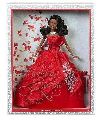 Holiday Barbie 2012 Collector Edition African Doll Exclusive RED Dress New Box