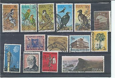 South West Africa stamps. Small used lot. (X400)