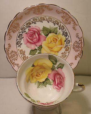 Crownford Hand Painted Floral Cabinet Cup And Saucer