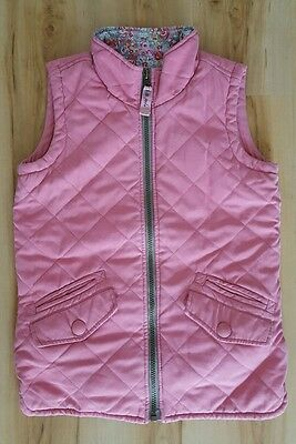 Joules Girls Pink Gilet.  Age 9-10 years