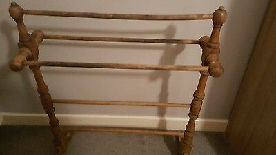 1930's Antique Wooden Towel Stand