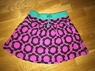 Lovely Mini Boden Corduroy Pink Flower Elasticated Band Skirt Size 7-8 Years