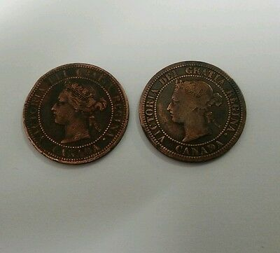 2 Victoria Heaton Mint Canadian cents