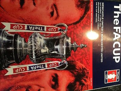 Newcastle United v Manchester United Semi Final 2005 f a cup programme