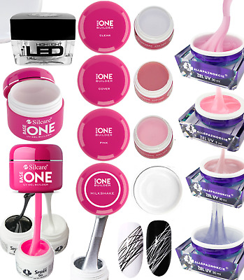 Silcare GEL UV BASE ONE Builder Clear Pink Shining Cover 50g 100g 250g grand UK