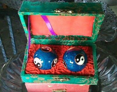 Vintage Chinese Worry balls in box.