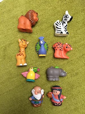 Fisher Price Little People Noah His Wife And Animals  ⭐️ Xmas Look!!