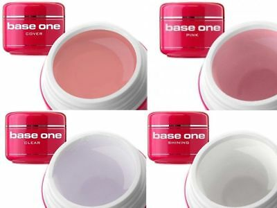 Silcare GEL UV BASE ONE Builder Clear Claro Pink Rosa Shining Cover 50g ES