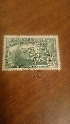 Jamaica 1 1/2d stamp used