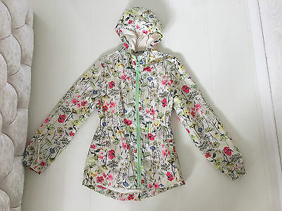 George Girls Lightweight Parka Floral Print Jacket With Hood – 11/12 Years