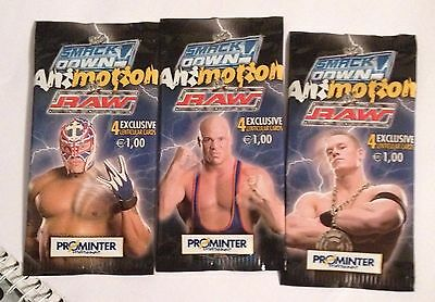 WRESTLING SMACK DOWN  PROMINTER-serie ANIMOTION RAW 3 bustine sigillate