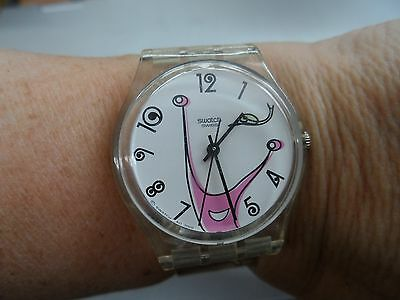 SWATCH Swiss Silicone Ladies Watch Snails
