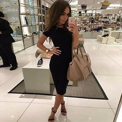 2016 sexy Dress Long Sleeve Slim Dresses Fashion donna women Black abito lungo