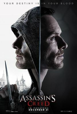 Assassin's Creed 27x 40 UNUSED Movie Poster D/S Fassbender Cotillard
