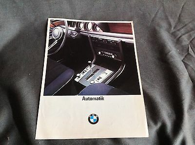 BMW Sales Brochure , Automatic