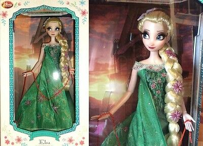 "Elsa Frozen Fever Disney Limited Edition doll 17"" LE Limitée Arendelle Birthday"
