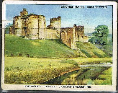 Cigarette Cards. Churchman's 1938. Holidays. Kidwelly Castle. No. 21
